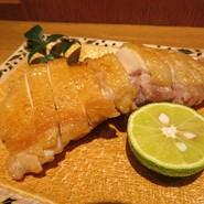 阿波尾鶏モモ肉天然塩焼き