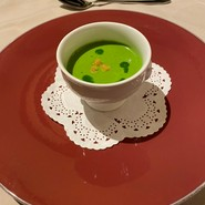菜の花のクリームスープ