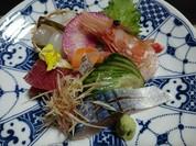 本鮪、自家製〆鯖、石鰈の昆布〆、牡丹えび