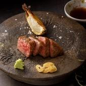 京都肉のステーキ