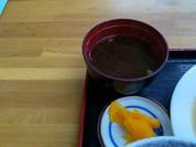 ミニ丼セット・お新香、味噌汁