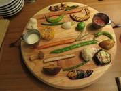 「テラ・マーテル」野菜のプラトー 新得ラクレットソース