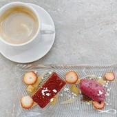 3500円ランチコースのコーヒーとデザート