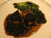 フォアグラのソテー海藻のソース