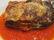 牛スジとゆで卵、モッツァレラチーズの ナポリ風ラザーニャ