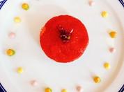 帆立貝のカルパッチョ 苺のシャンパンビネガーソース
