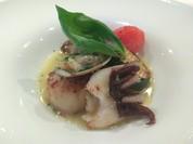 ■魚料理:赤メバルとホタテ        ~浅利シャンパンソース~