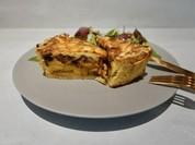 ベーコンとボルチーニ茸の蜜芋キッシュ