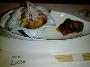 前菜 フグの南蛮漬と紫芋のアンチョビソテー