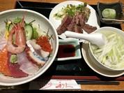 牛たん焼きと海鮮丼定食