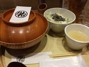 食べログ限定コース、名古屋コーチン親子丼 スープ、特製サラダつき