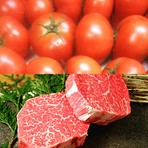 熊本名産塩トマト、熊本名産赤牛